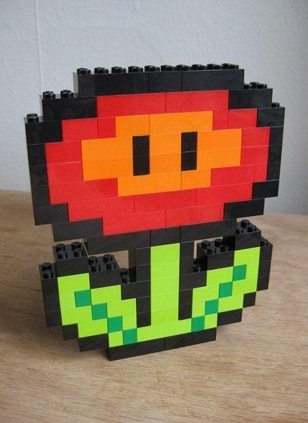 LEGO custom kit Flower by Guythefly on Etsy, $19.99
