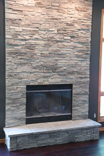Charmant Two Story Dry Stack Fireplace