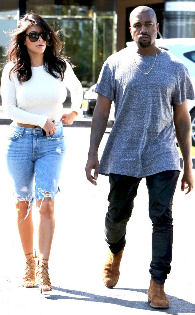 Kim Kardashian Wears Backless Top, Ripped Denim While Out With Kanye West?See the Photos!
