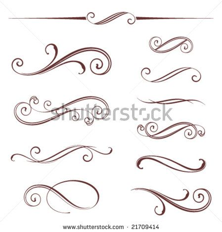 Free Scroll Work Images | Vectorized Scroll Design, Elements Can Be Ungrouped For Easy Editing ...