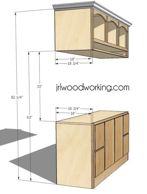 JRL Woodworking | Free Furniture Plans and Woodworking Tips: Furniture Plans: Custom Entertainment Center for Flat Screen TV