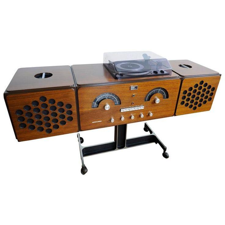 Vintage Brionvega RR 126 FO ST Record Player Turntable Radio 1965 David  Bowie