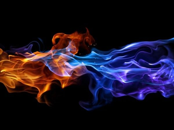 Blue and Orange Flames | Fire tattoo, Fire, Red fire