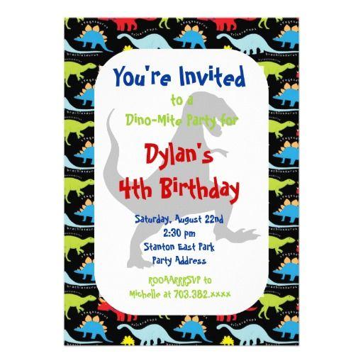 Best Dinosaur Birthday Party Invitations Images On Pinterest - Dinosaur birthday invitation card template