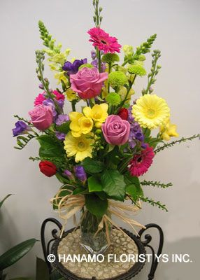 color...: Colourful Seasonal, Floral Design, Color, Flower Arrangements, Floral Arrangements, Vibrant Colours, Seasonal Flowers