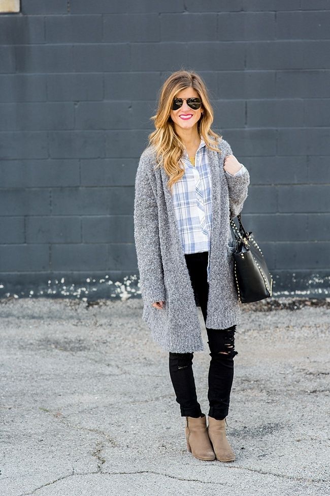 exceptional outfits with gray sweaters 8