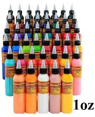 Full+50+Color+Set+-+1oz+Bottles+-+Eternal+Tattoo+Ink+-+Eternal+Tattoo+Ink+– Full+50+Color+Set+–+1oz+Bottles Eternal+tattoo+ink+is+a+pre-dispersed+ink+manufactured+in+the+USA. +It+is+a+non-toxic,+glycerol+free,+water-based,+vegan+tattoo+ink. +You+will+find+all+the+colors+you+could+possibly+imagine+in+the+Eternal+Ink+Collection. This+listing+is+for+the+1oz+Full+50+Bottle+Set.+ You+will+receive+50+bottles+of+1oz+ink+from+the+spectrum+of+all+colors.+ This+i...