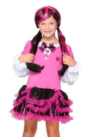 Amazon.com: Monster High Pink Draculaura Wig: Clothing