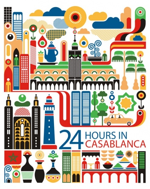 Casablanca: World City Illustration by Fernando Volken Togni    loving the shapes and colours!