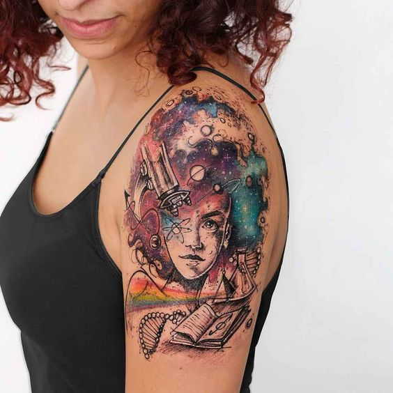 38 Cosmic Infused Tattoos For Astronomy Lovers | Amazing Tattoo Ideas