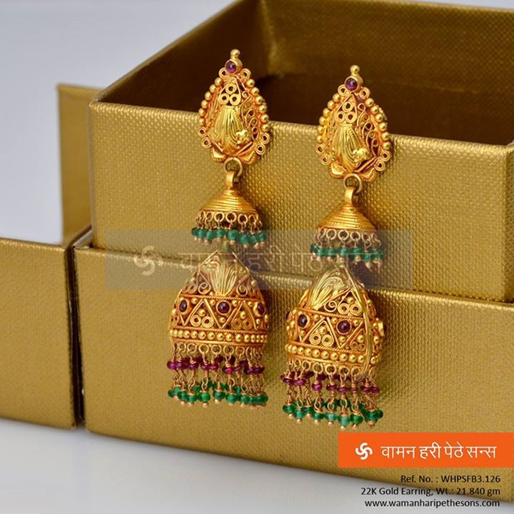 #Traditionally #designed and #beautifully #crafted #gold #earring from our all new collection.