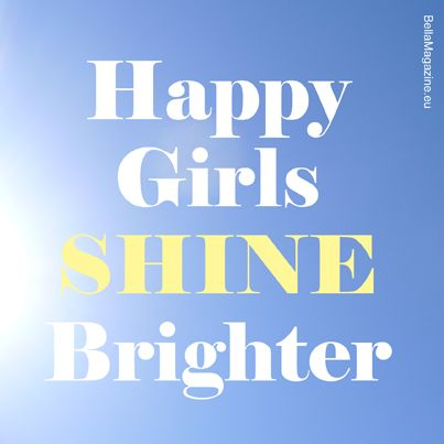 happy girls quote