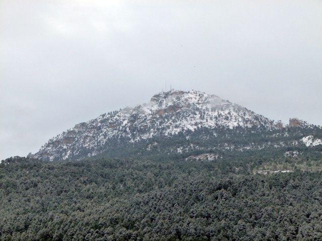Nieve en Moratalla (Murcia) en fin de semana del 7-8 de Febrero de 2015.