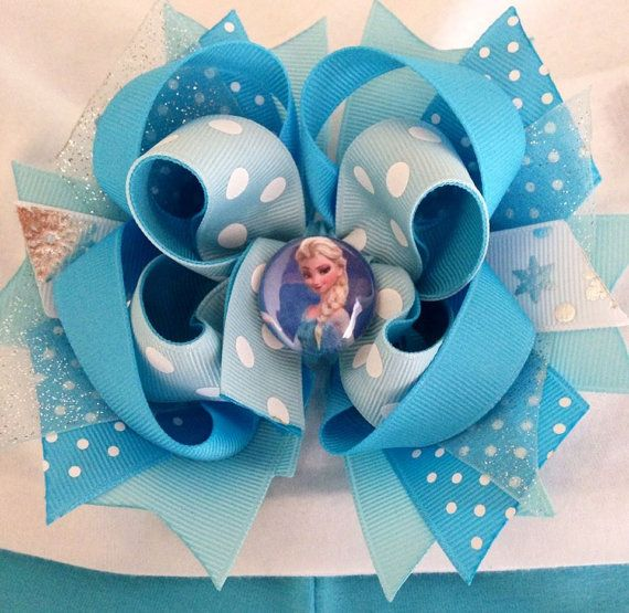 "Sherrie Berrie's Boutique ""Elsa"" Frozen Hair Bow on Etsy, $8.99"