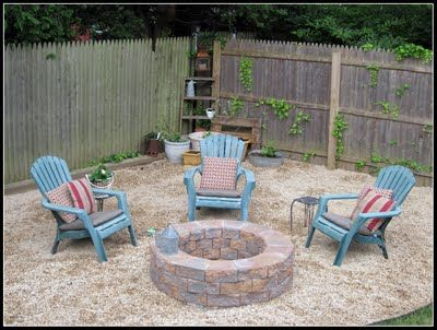 Patio: Fire Pits, Gravel Gardens, Idea, Diy Fire, Outdoor Fire Pit, Fire Pit Area, Backyard Fire Pit, Firepit, Back Yard