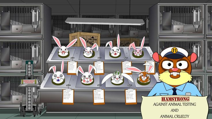 Hamstrong is against animal testing and animal cruelty! #cartoon #vivisection