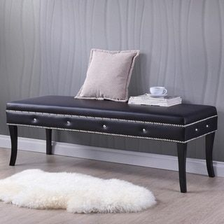 Shop for Tavignano Wood And Leather Contemporary Bench in Black. Get free shipping at Overstock.com - Your Online Furniture Outlet Store! Get 5% in rewards with Club O!