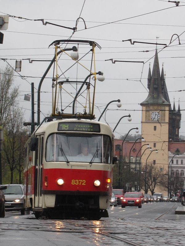 My beloved red tram in Prague - Prague Old Town, Prague