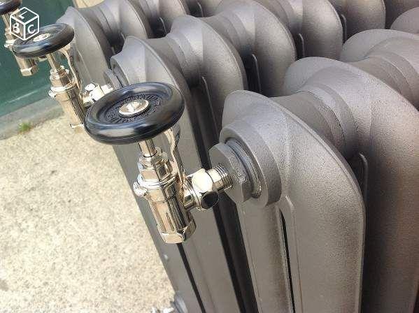 Robinet radiateur fonte chrome