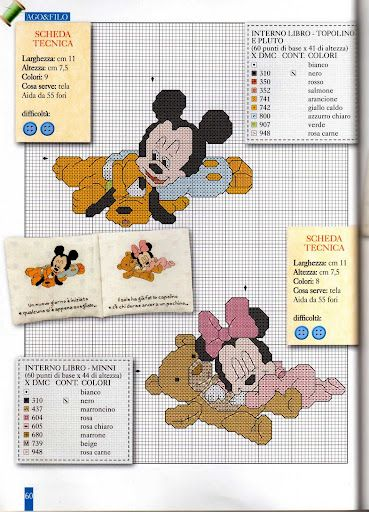 A través de Meg Henry    Baby Mickey & Minnie