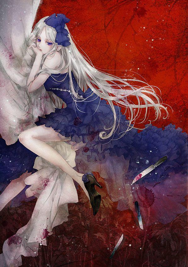 """Art of Belarus from """"Axis Powers: Hetalia"""" series by manga artist Haiyoru."""