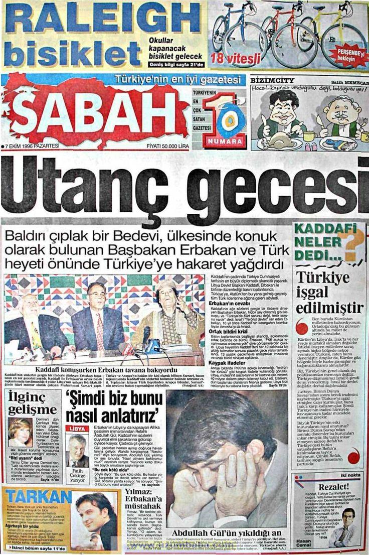 Sabah gazetesi 7 ekim 1996