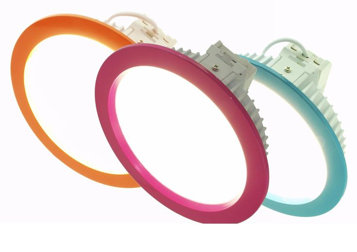 Add colour to your ceiling with a primary coloured ring LED Downlights from Exled. Great for children's wards and areas around the NHS and also for waiting rooms and reception areas.