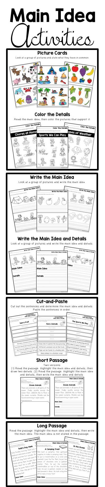 2nd Grade main idea and details worksheets 2nd grade : 52 best Reading Strategies & Comprehension images on Pinterest ...