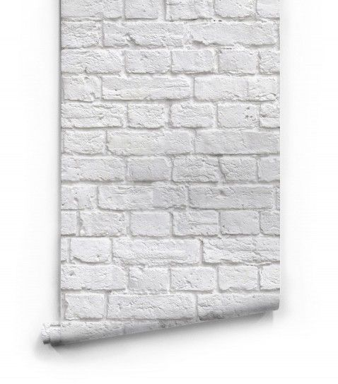 Soft White Bricks Wallpaper Roll small