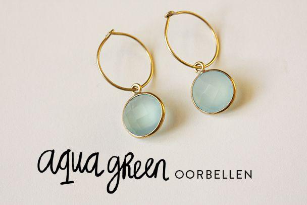 Coeurblonde producten | Aqua green oorbellen