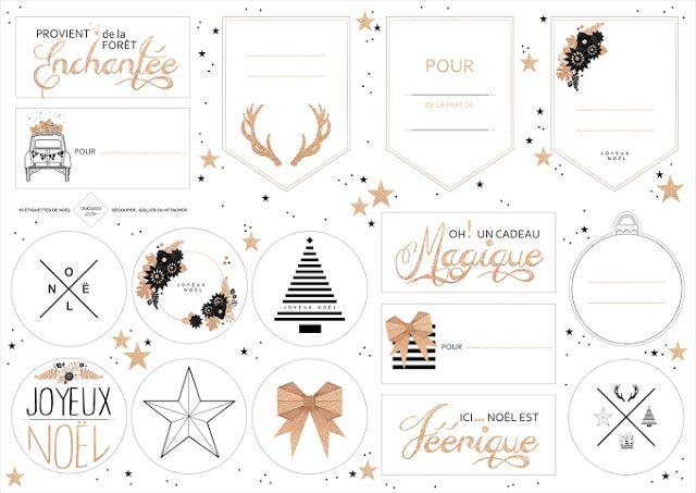 Etiquettes pour cadeaux de Noël Oui Oui Studio via Nat et nature
