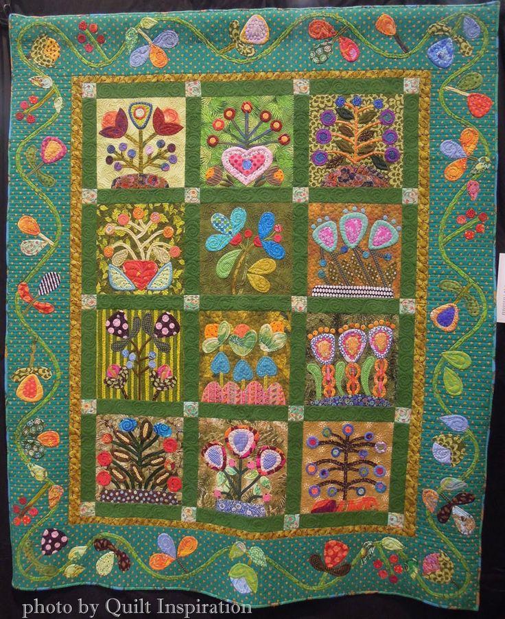 Quilt Inspiration: Fancy Folk Art Quilts