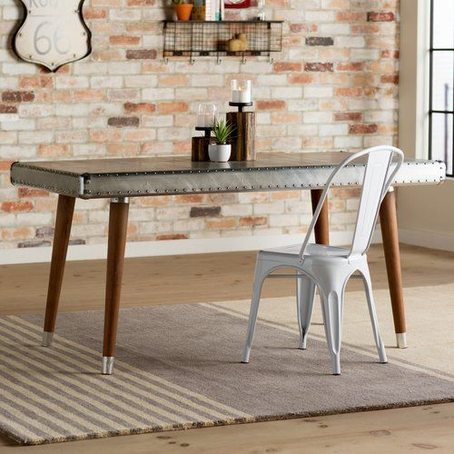 Found it at Wayfair - Hanford Aluminum Top Dining Table