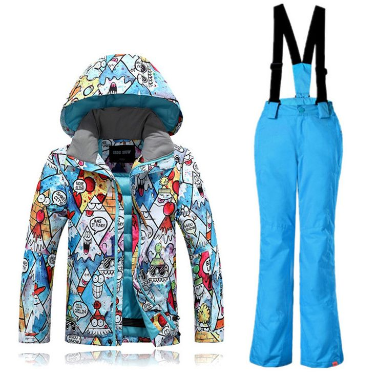 Kids Ski Suit Windproof Waterproof Gsou Snow Band Windproof Waterproof Outdoor Sport Wear Camping Riding Skiing Snowboard Set #Affiliate