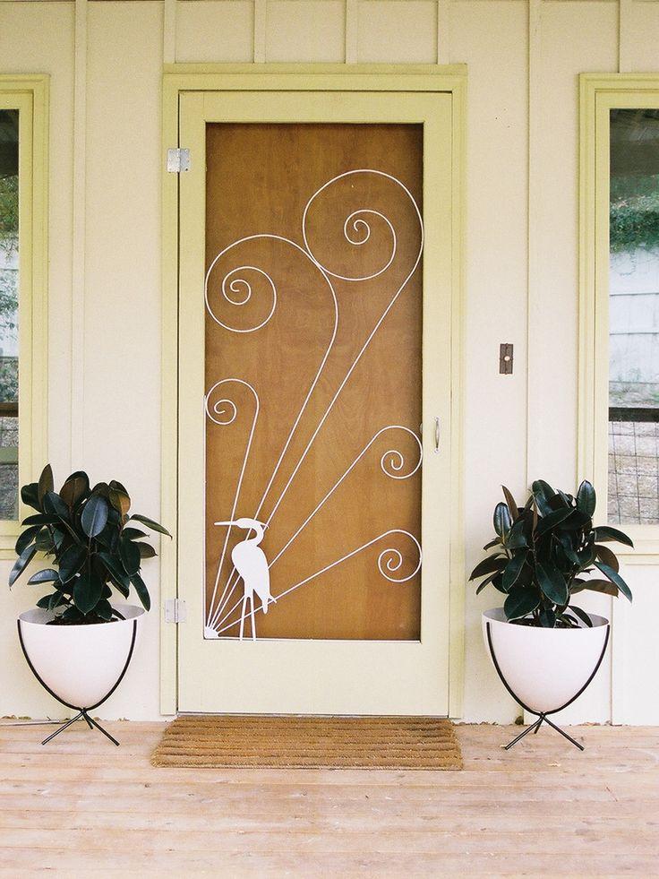 40 best vintage screen doors images on pinterest vintage for Storm door screen insert