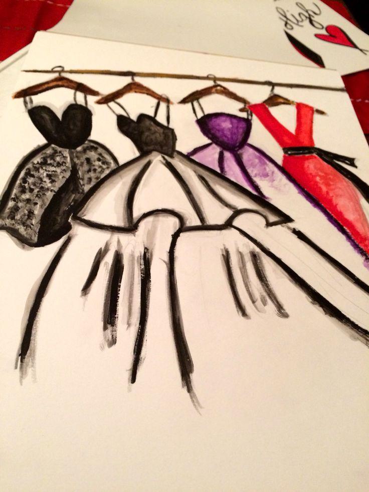 Dresses painted in acrylics. #my #gaba #artwork