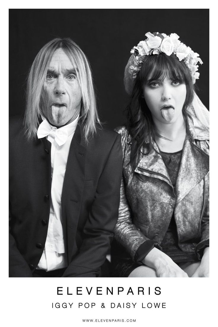 Iggy Pop Star and Daisy Lowe photographed by Mathieu César