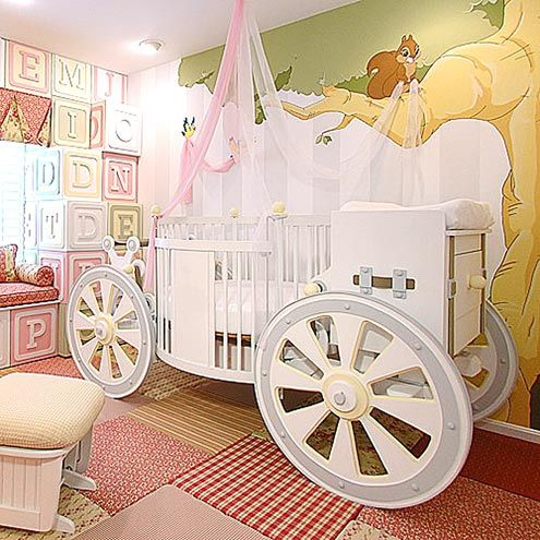 PRINCESS-WORTHY CRIB: $20,000    Talk about sweet dreams!  Made of solid cedar, it features a faux leather seat, decorative wheels and a rear changing table/storage bench.    Fantasy Carriage Crib from PoshTots