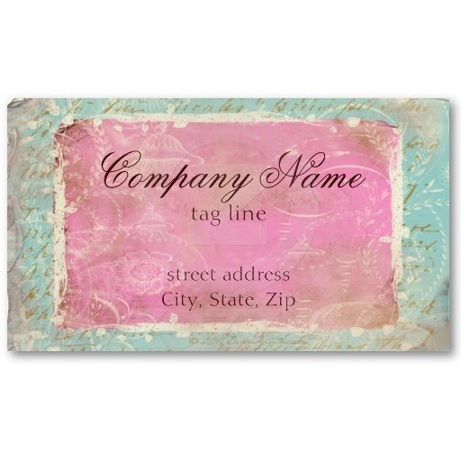 25 best business card templates images on pinterest business card vintage french toile script no1 standard business card reheart Gallery