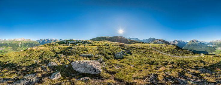 Muottas Muragl, 360 Grad Panorama, Schweiz 3