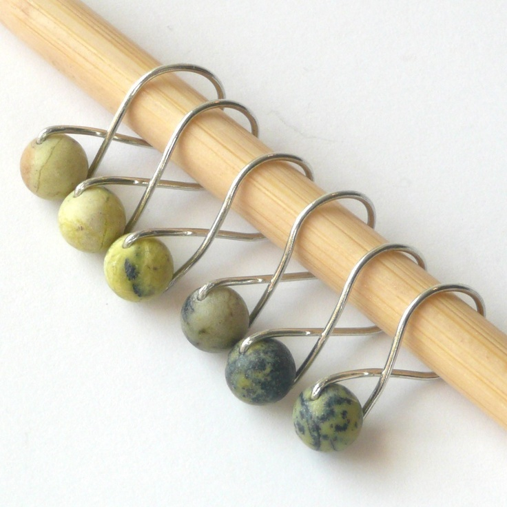 These are some of my favorite stitch markers ever. Infinity Ring Knitting Stitch Markers from Twice Sheared Sheep.