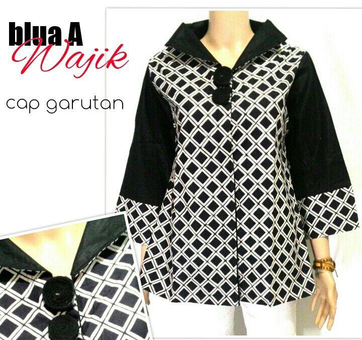 Blus AMotif Wajik Bahan Kain Batik Cap Garutan Allsize Harga 125rb #blus #blouse #blousebatik #seragambatikkantor #batikbagoes