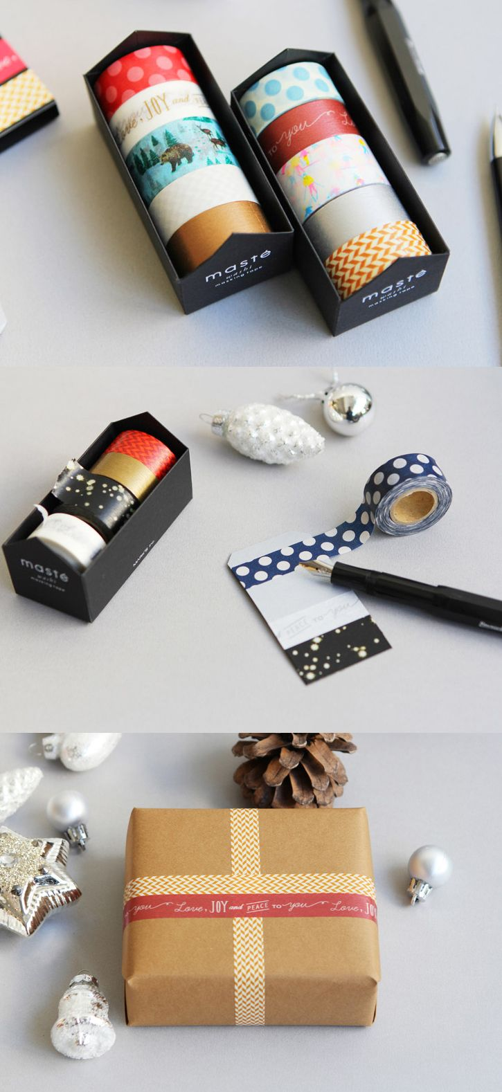 This Winter Collection Masking Tape Set includes 5 delightful masking tapes that will turn anything festive!