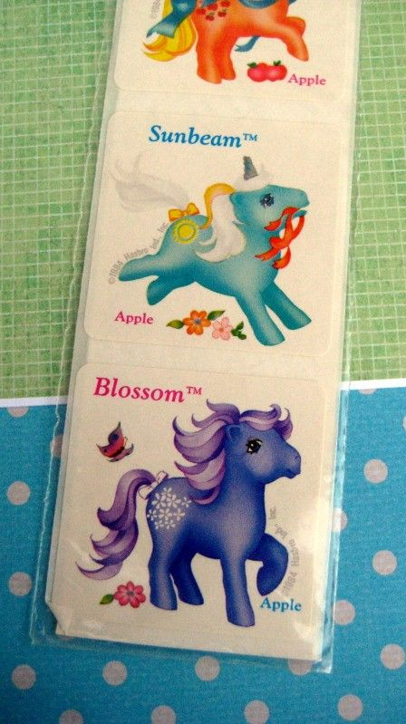 Vintage 80s My Little Pony Scratch and Sniff Stickers (MIP) (Apple Scented) Unicorn and Pegasus $12.00
