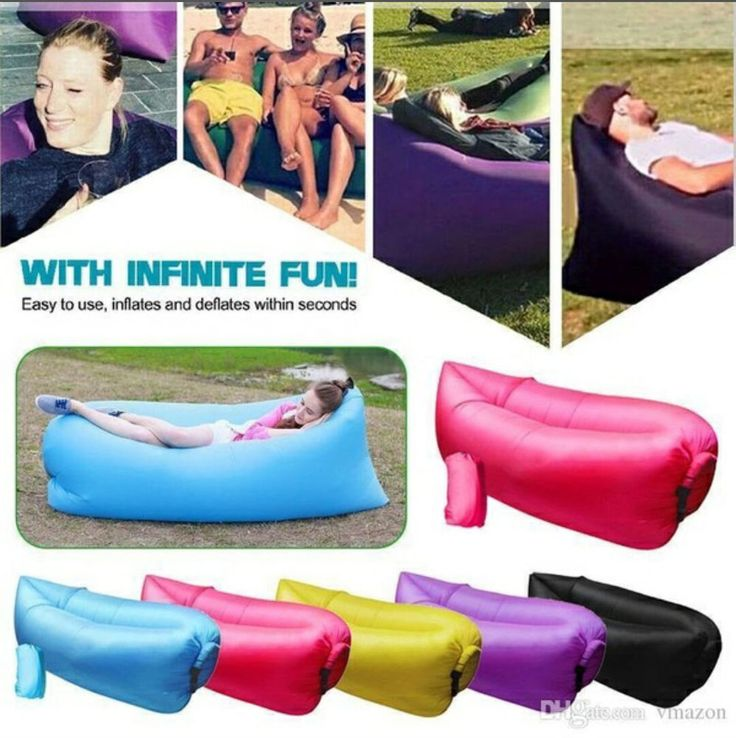 air sleeping bag waterproof lounger chair fast inflatable camping lazy sofa bed unbranded