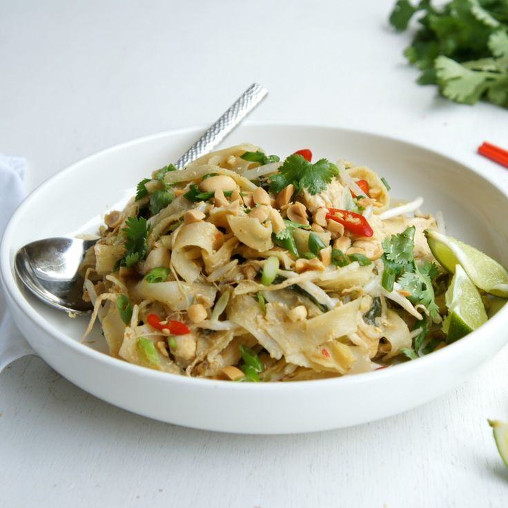 Try some of these quick noodle recipes for those days you come home hangry like a Chicken Pad Thai by grandmar.