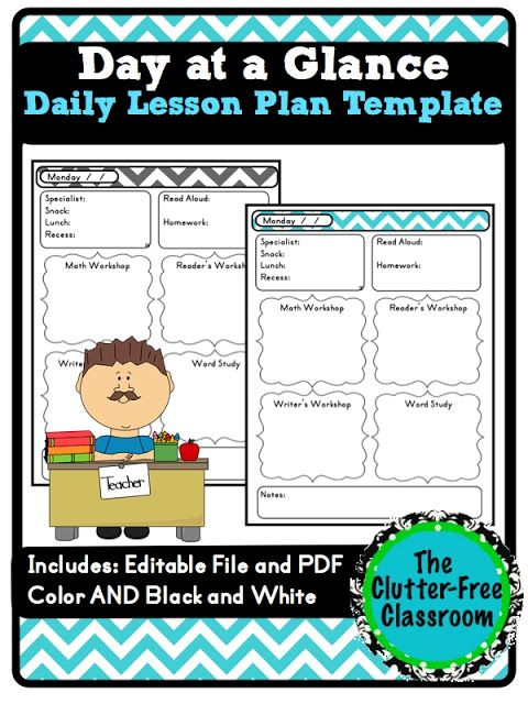 29 best Day Care Templates images on Pinterest School agenda - sample daily lesson plan template