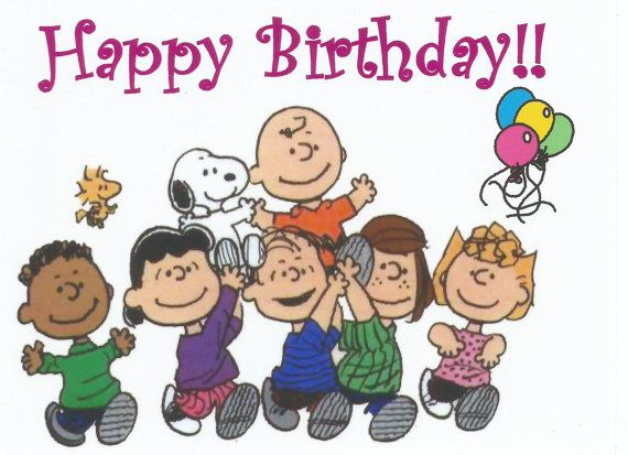 Charlie Brown Snoopy Peanuts Gang Happy Birthday by MagnetsbyAbby