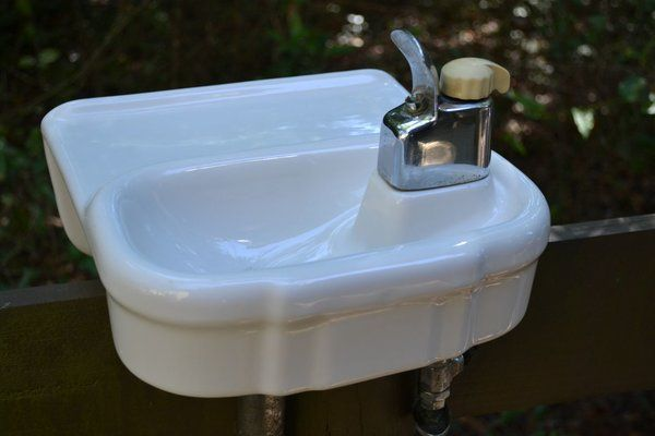 Vintage Wall Mount Porcelain Drinking Water Fountain