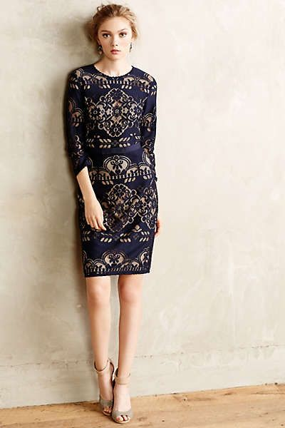 kittery lace dress   anthropologie